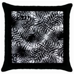 Tropical leafs pattern, black and white jungle theme Throw Pillow Case (Black)