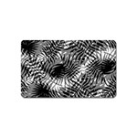 Tropical leafs pattern, black and white jungle theme Magnet (Name Card)