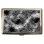 Tropical leafs pattern, black and white jungle theme Cigarette Money Case