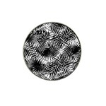 Tropical leafs pattern, black and white jungle theme Hat Clip Ball Marker (4 pack)