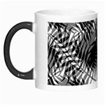 Tropical leafs pattern, black and white jungle theme Morph Mugs