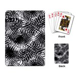 Tropical leafs pattern, black and white jungle theme Playing Cards Single Design (Rectangle)