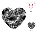 Tropical leafs pattern, black and white jungle theme Playing Cards Single Design (Heart)