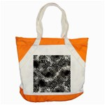 Tropical leafs pattern, black and white jungle theme Accent Tote Bag