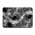 Tropical leafs pattern, black and white jungle theme Small Doormat