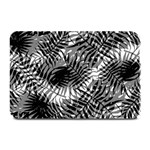Tropical leafs pattern, black and white jungle theme Plate Mats