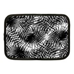 Tropical leafs pattern, black and white jungle theme Netbook Case (Medium)