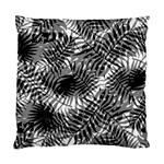 Tropical leafs pattern, black and white jungle theme Standard Cushion Case (Two Sides)