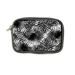 Tropical leafs pattern, black and white jungle theme Coin Purse