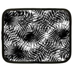 Tropical leafs pattern, black and white jungle theme Netbook Case (XL)