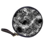 Tropical leafs pattern, black and white jungle theme Classic 20-CD Wallets