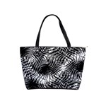Tropical leafs pattern, black and white jungle theme Classic Shoulder Handbag