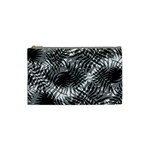 Tropical leafs pattern, black and white jungle theme Cosmetic Bag (Small)