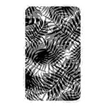 Tropical leafs pattern, black and white jungle theme Memory Card Reader (Rectangular)