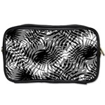 Tropical leafs pattern, black and white jungle theme Toiletries Bag (Two Sides)