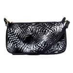Tropical leafs pattern, black and white jungle theme Shoulder Clutch Bag