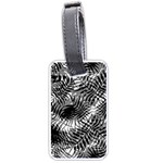 Tropical leafs pattern, black and white jungle theme Luggage Tag (one side)