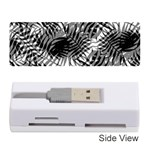 Tropical leafs pattern, black and white jungle theme Memory Card Reader (Stick)