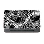 Tropical leafs pattern, black and white jungle theme Memory Card Reader with CF