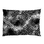 Tropical leafs pattern, black and white jungle theme Pillow Case (Two Sides)