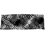 Tropical leafs pattern, black and white jungle theme Body Pillow Case (Dakimakura)