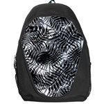 Tropical leafs pattern, black and white jungle theme Backpack Bag