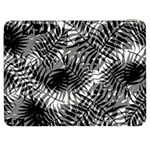 Tropical leafs pattern, black and white jungle theme Samsung Galaxy Tab 7  P1000 Flip Case