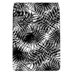 Tropical leafs pattern, black and white jungle theme Removable Flap Cover (L)