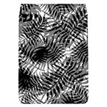 Tropical leafs pattern, black and white jungle theme Removable Flap Cover (S)