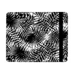 Tropical leafs pattern, black and white jungle theme Samsung Galaxy Tab Pro 8.4  Flip Case