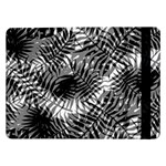 Tropical leafs pattern, black and white jungle theme Samsung Galaxy Tab Pro 12.2  Flip Case
