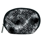 Tropical leafs pattern, black and white jungle theme Accessory Pouch (Medium)