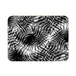 Tropical leafs pattern, black and white jungle theme Double Sided Flano Blanket (Mini)