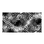 Tropical leafs pattern, black and white jungle theme Satin Wrap