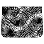 Tropical leafs pattern, black and white jungle theme Buckle Messenger Bag