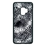 Tropical leafs pattern, black and white jungle theme Samsung Galaxy S9 Seamless Case(Black)