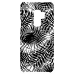 Tropical leafs pattern, black and white jungle theme Samsung S9 Plus Black UV Print Case
