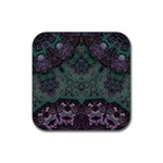 Mandala Corset Rubber Square Coaster (4 pack)