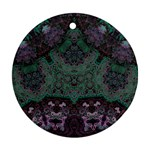 Mandala Corset Round Ornament (Two Sides)