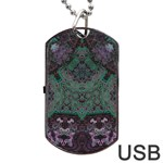 Mandala Corset Dog Tag USB Flash (One Side)