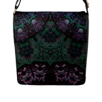 Mandala Corset Flap Closure Messenger Bag (L)