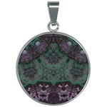 Mandala Corset 30mm Round Necklace