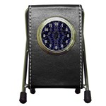 Mandala Cage Pen Holder Desk Clock