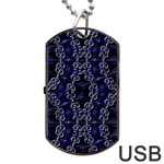 Mandala Cage Dog Tag USB Flash (One Side)