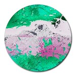 Crackling Green Round Mousepads