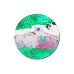 Crackling Green Magnet 3  (Round)