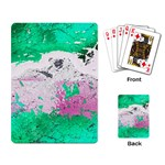 Crackling Green Playing Cards Single Design (Rectangle)