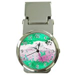 Crackling Green Money Clip Watches