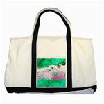 Crackling Green Two Tone Tote Bag