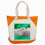 Crackling Green Accent Tote Bag